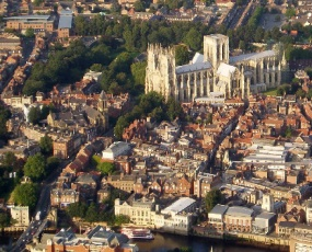 Aerial view of York, Copyright DACP, reused under a Creative Commons Licence